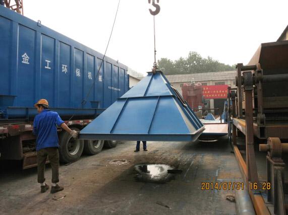 湖南张家界石料厂除尘器发货现场图(2)