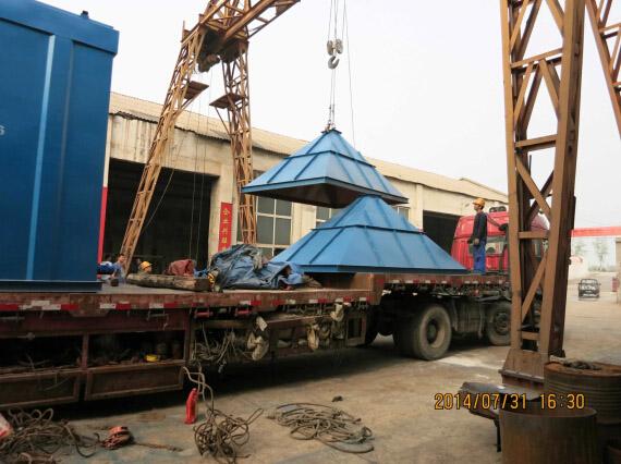 湖南张家界石料厂除尘器发货现场图(6)