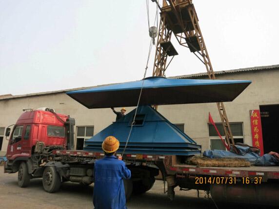 湖南张家界石料厂除尘器发货现场图(8)