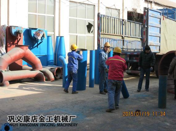 河南三门峡市某公司除尘器发货现场(5)