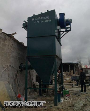 宁夏某公司除尘器设备安装现场