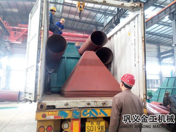 湖南某公司回转窑除尘器发货现场(3)