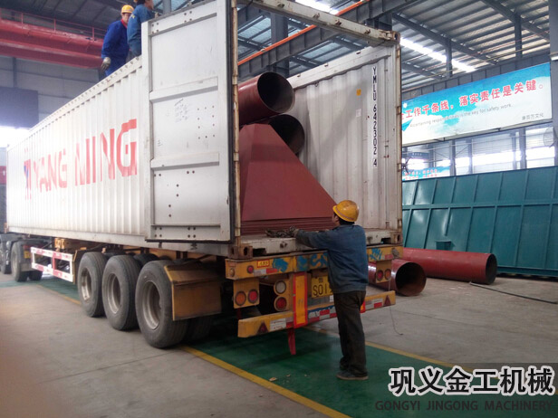 湖南某公司回转窑除尘器发货现场(4)
