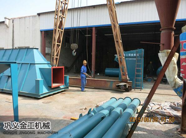 武安单机脉冲除尘器发货现场(1)