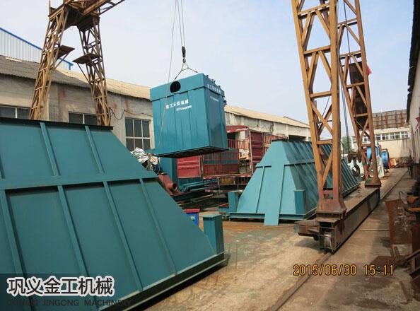 武安单机脉冲除尘器发货现场(3)