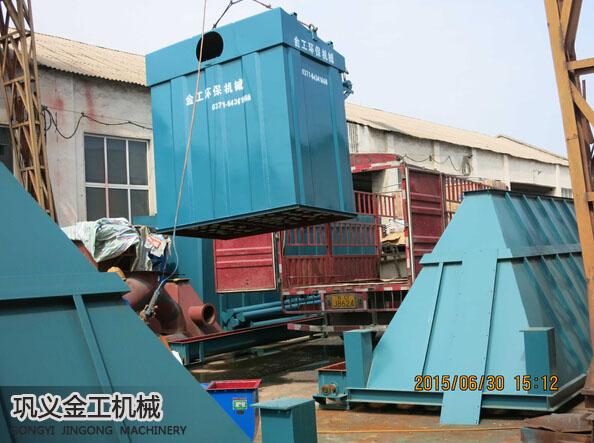 武安单机脉冲除尘器发货现场(4)