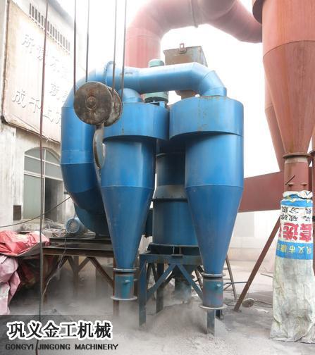 机制砂选粉机在我厂试机成