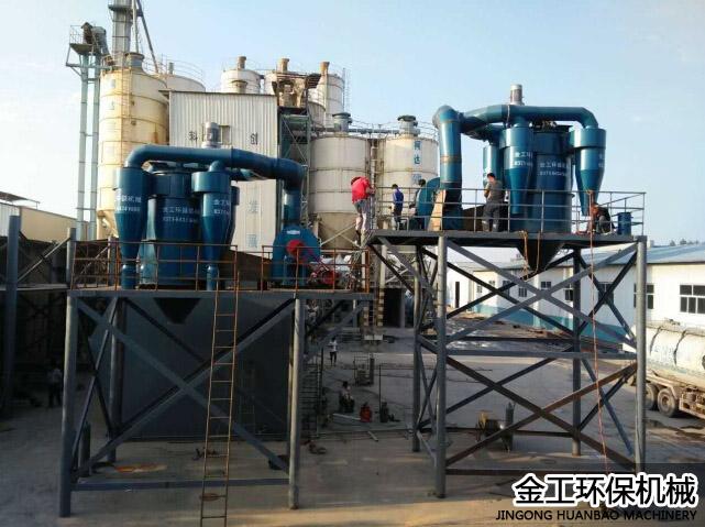 陕西西安砂石选粉机+库顶除尘器安装现场(3)