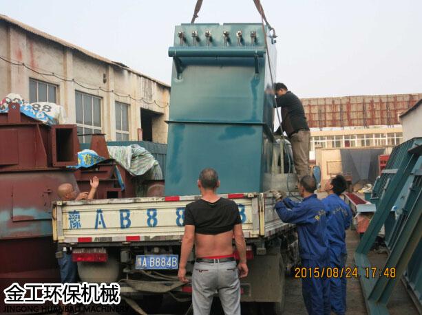 义马单机袋式/布袋除尘器发货现场(6)