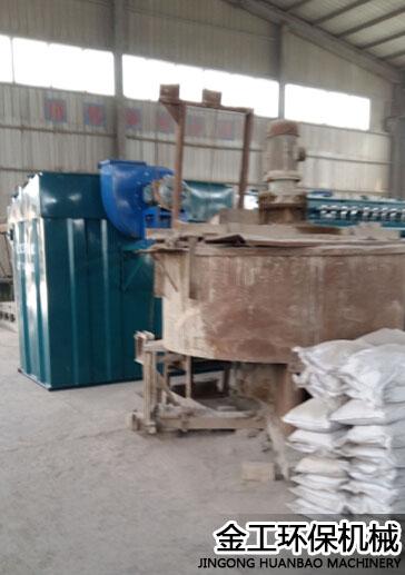 巩义某耐火材料厂除尘器安装现场(1)