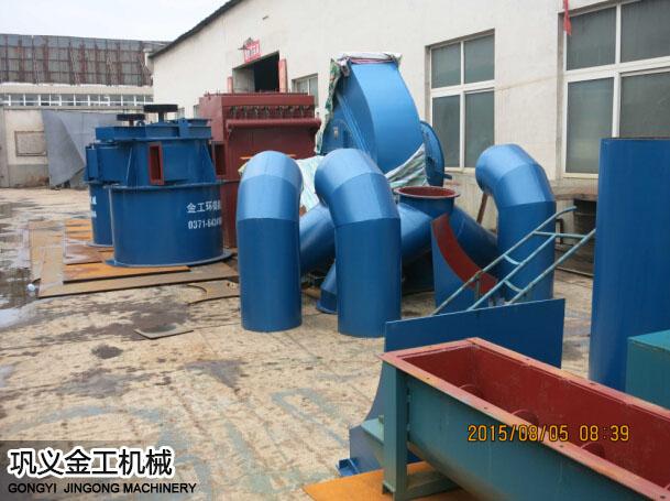 陕西西安陈总选粉机和除尘器发货现场(10)