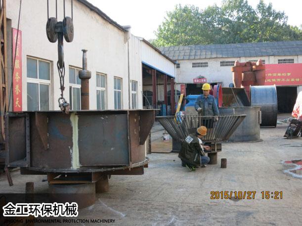 河南新密王先生时产8吨砂石选粉机生产现场(1)