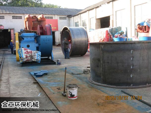 王先生砂石选粉机生产现场