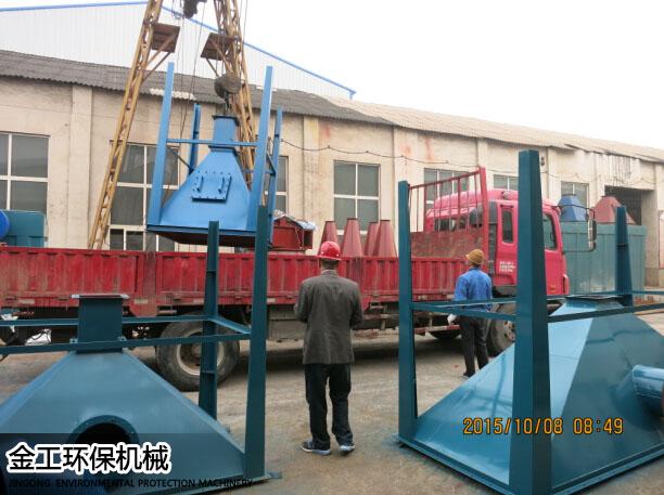 小关龙门占通石料厂除尘器发货现场(2)