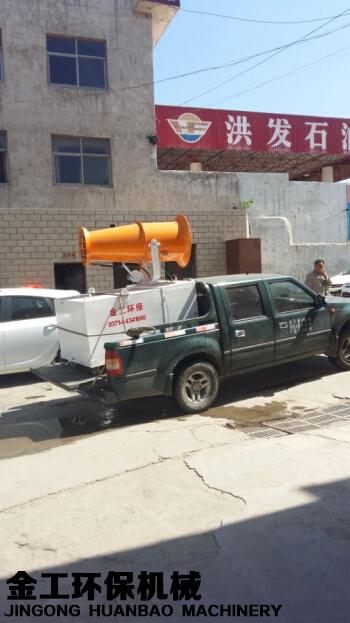 罗泉石料厂远程喷雾机发货